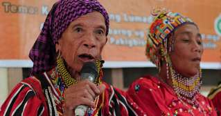 Manobo Lumad woman warrior, chieftain is recipient of UP's Gawad Tandang Sora award