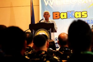 TO BE OR NOT TO BE.  DND Secretary Voltaire Gazmin says Friday that his department will review the country's all peacekeeping missions following the capture of 21 Filipino UN peacekeepers by Syrian rebels Wednesday at the Golan Heights in Syria.  The DFA, UN and EU have called for the immediate and unconditional release of the Filipino peacekeepers.  (davaotoday.com photo by Ace R. Morandante)