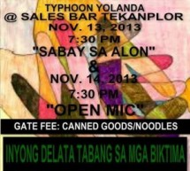 Singing for Yolanda: relief concerts slated