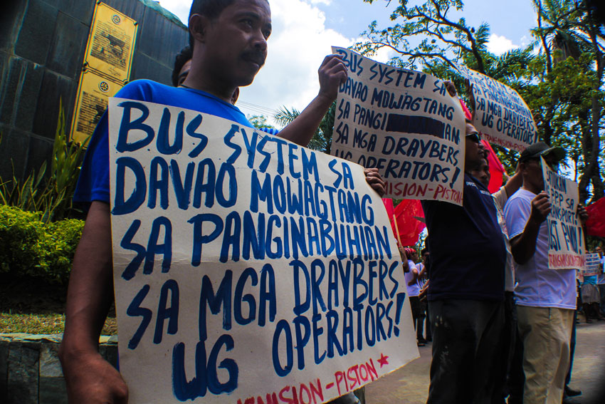 Davao jeepney, trike drivers fear displacement with proposed bus system
